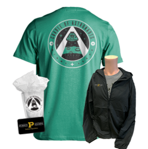 pase membership kit including jacket, glass, and shirt