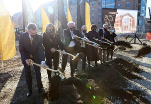 leaders take part in groundbreaking ceremonies