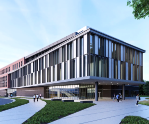 rendering of the nursing and pharmacy building