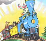 little blue train engine